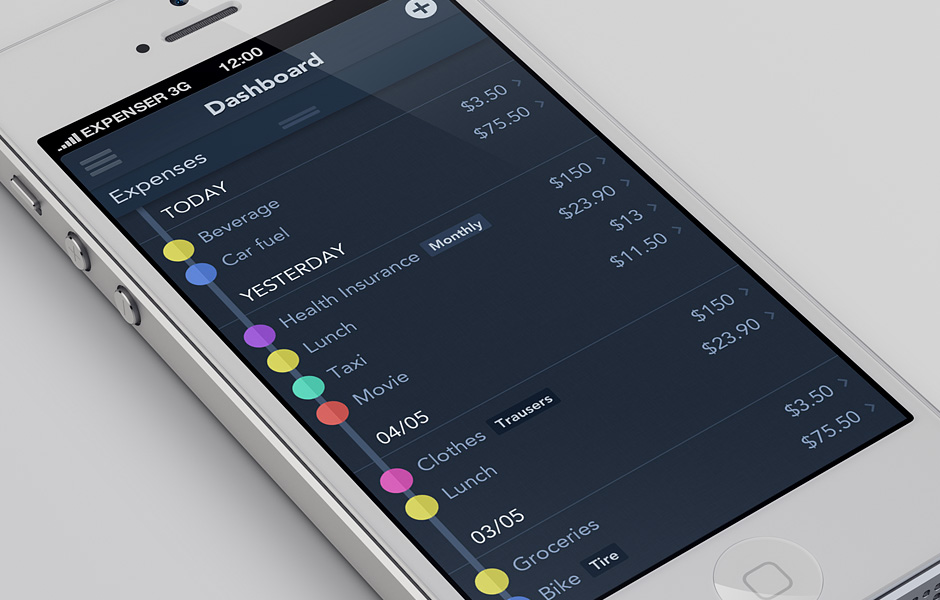 expenser_iphone5_template_expenses_list